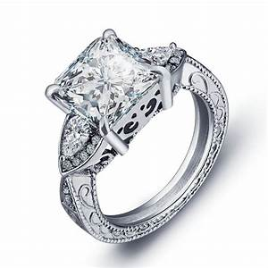 engagement rings vintage style wedding promise diamond With vintage looking wedding rings