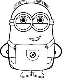Funny Minion Coloring Pages