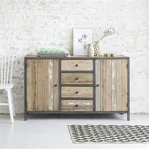 Commode 150 Cm : commode en bois de pin recycl et m tal 150 vintage bois dessus bois dessous ~ Teatrodelosmanantiales.com Idées de Décoration