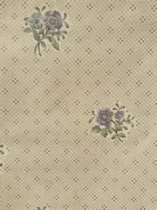 vintage   wallcovering wallpaper prepasted floral gold dots french country ebay