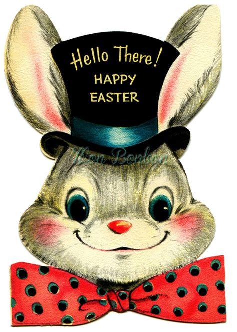 vintage clipart easter bunny pencil   color vintage