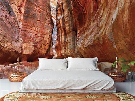 Bedroom in the canyon   Bedroom wallpaper mural   Photo