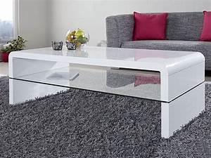 Table Basse Blanc Laqué : table basse blanche marty 2 ~ Teatrodelosmanantiales.com Idées de Décoration
