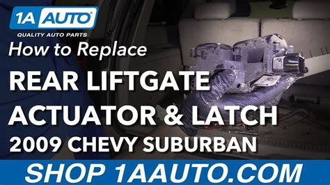 How Replace Rear Lift Gate Actuator Latch