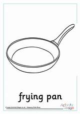Colouring Pan Frying Pancake Pages Recipe Word Activity Activityvillage sketch template