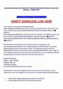 Sea Doo 3d Rfi 2004 Workshop Service Manual For Repair