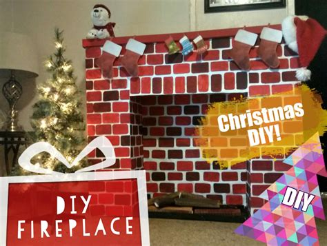 diy christmas fireplace     fireplace youtube