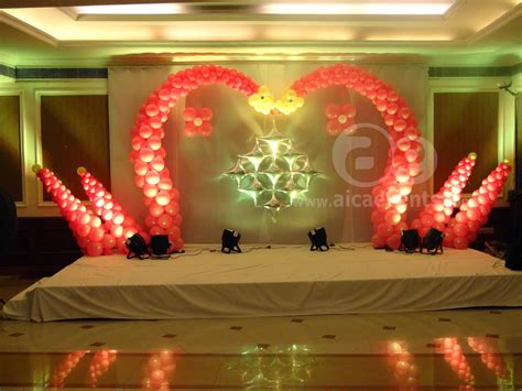 aicaevents balloon decorations   stage