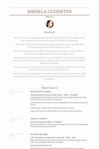 hostess resume samples visualcv resume samples database With hostess resume