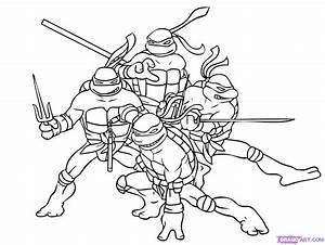 Ninja Turtles Coloring Pages Leonardo - AZ Coloring Pages