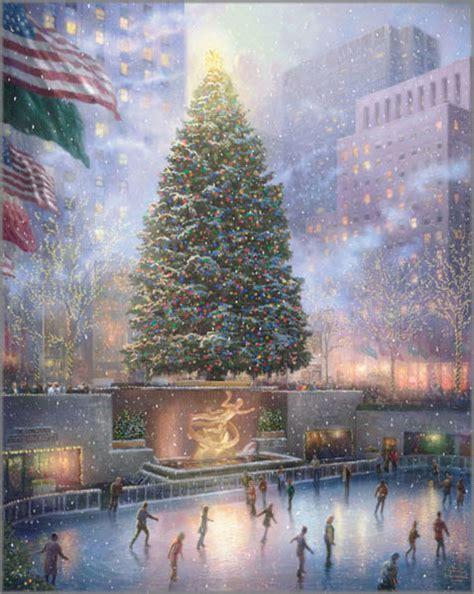 homeade lifesize thinas kinkade christmas tree kinkade in new york rockefeller center