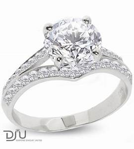 233 carat e si1 round solitaire diamond engagement ring With 14 carat white gold wedding rings