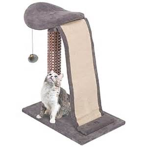 Penn Plax Cat Life Cat Lounging Tower with Sisal Slide - Grey