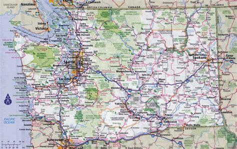 large detailed roads  highways map  washington state
