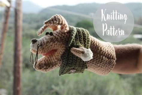 animal hand puppet  knitting pattern  knitting
