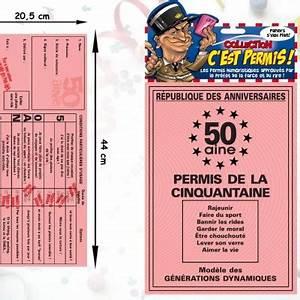 Cadeau Permis De Conduire : permis de la cinquantaine 50ans ~ Medecine-chirurgie-esthetiques.com Avis de Voitures