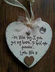 husband wife wedding day gift keepsake wooden heart chic With gifts for husband on wedding day