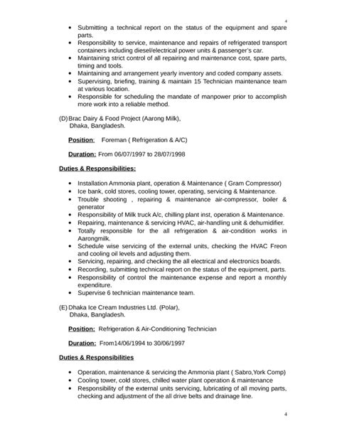 Free Resume For Maintenance Manager by Executive Maintenance Supervisor Resume Template Page 4