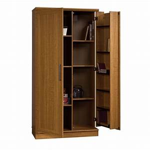 Sauder, Home, Plus, Storage, Cabinet, Swing, Out, Door, Brown