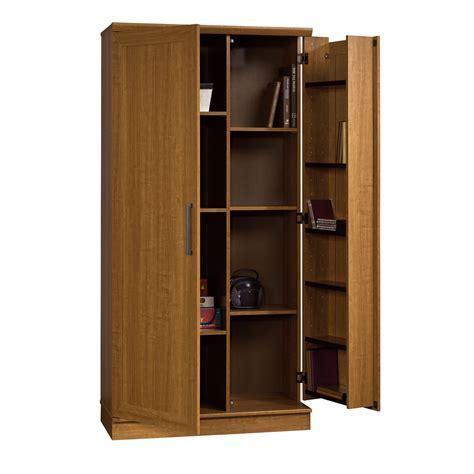 Sauder Home Plus Storage Cabinet Swing Out Door Brown