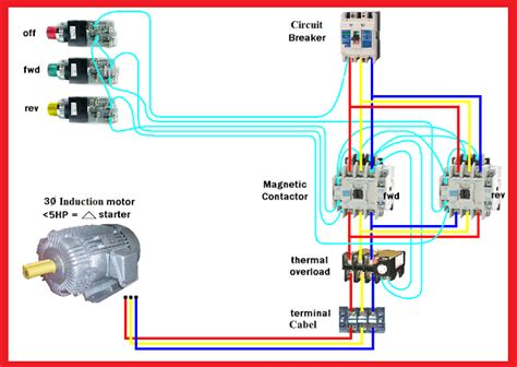 Motor Forward Reverse Wiring Diagram Elec Eng World