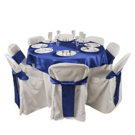 royal blue table linens blue table and chair sashes royal blue wedding chair