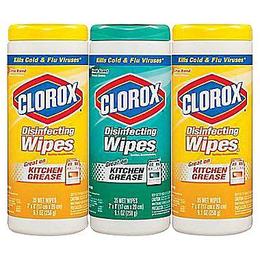 3-Pack Clorox® Disinfecting Wipes Value Pack $4.99 + Free