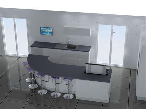 cuisine avec bar arrondi cuisine avec bar arrondi id 233 es de design suezl com