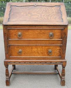 Jacobean Style Oak Writing Bureau 356034