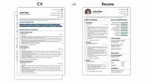 Vita vs resume