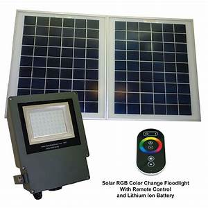 Solar goes green grey color led changing outdoor