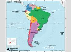 South America Map HD