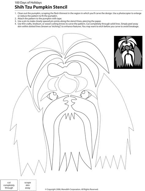 pumpkin carving dog stencils breed specific