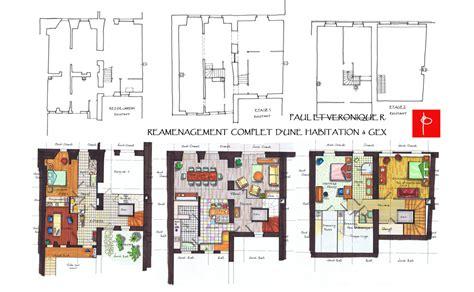 plan maison plain pied 3 chambre aménagement feng shui particulier aménagement maison gex