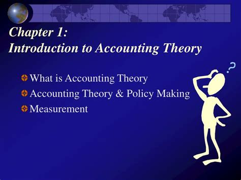 Introduction To Accounting Theory