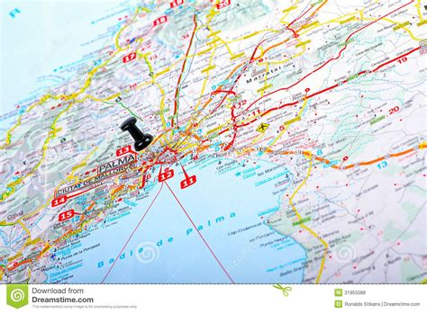 destination point on a map stock photo image of geography