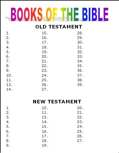 activity and ideas to teach the books of the bible