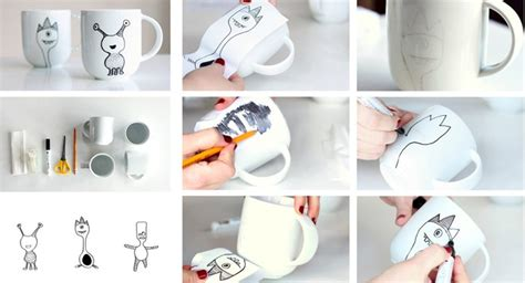 How To Decorate A Coffee Mug - how to decorate a coffee mug using a porcelain marker