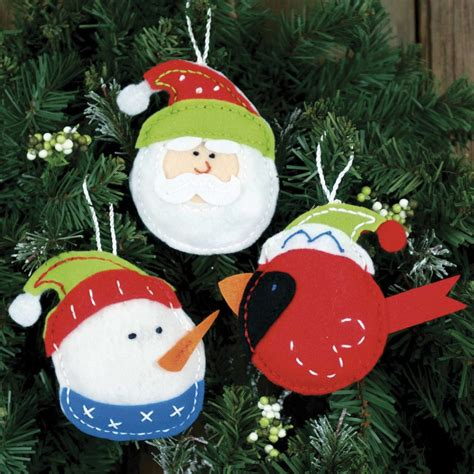 felt christmas ornaments pictures