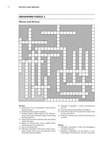 Cell Division Crossword Puzzle Answer Key