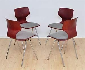 4er Set Stühle : st hle von fl totto 1960er 4er set bei pamono kaufen ~ Indierocktalk.com Haus und Dekorationen