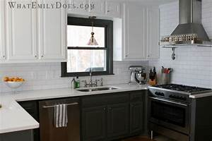 Kitchen reveal what emily does for Kitchen colors with white cabinets with charcoal wall art
