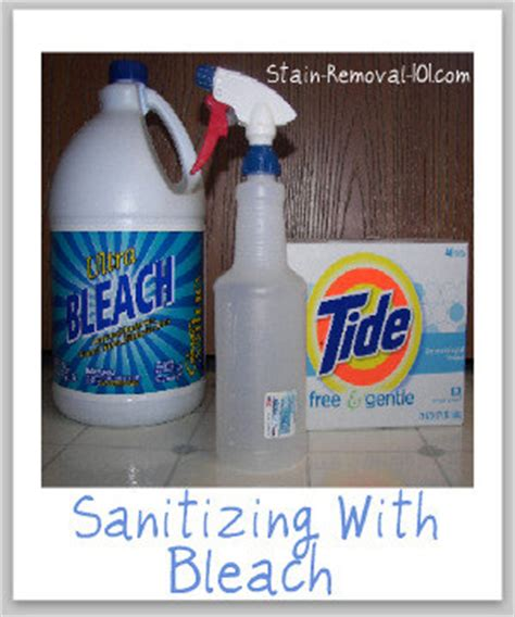 Sanitizing With Bleach: Make Your Own Homemade Disinfectant