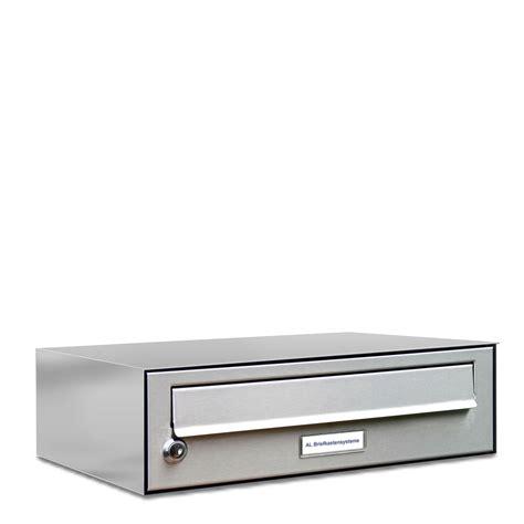 einbau briefkasten edelstahl 1er premium edelstahl briefkasten anlage einbau aufputz ebay