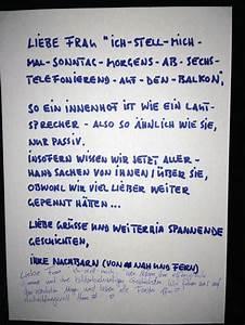 Nachbarn Schriftlich über Party Informieren : das haus h rt gerne mit ~ Frokenaadalensverden.com Haus und Dekorationen
