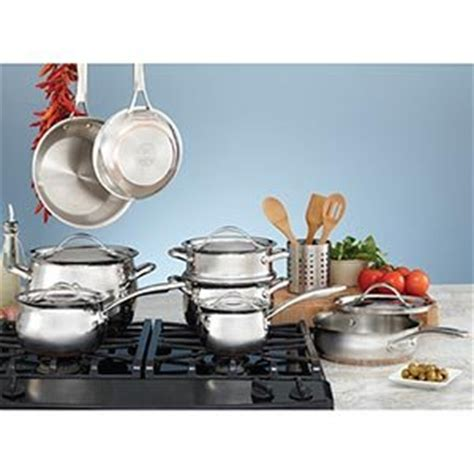 clad  calphalon kirkland signature  stainless steel  piece cookware set