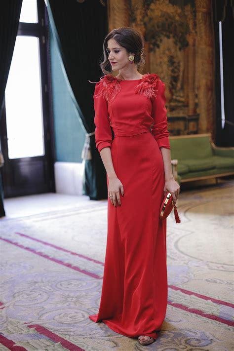Vestido rojo largo de Dnook y Amazona 27 u2013 Invitada Perfecta by Sandra