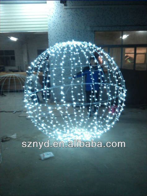 giant led christmas ball tree  outdoor decoration