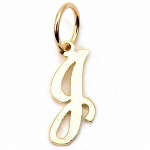 14k gold cursive quotjquot letter charm initial jewelry 12mm ebay With letter j jewelry