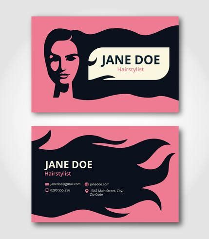 hairstylist business card template   vectors